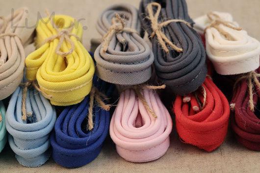 Шитье ручной работы. Ярмарка Мастеров - ручная работа. Купить Хлопковый кант, 12 цветов. Handmade. Шитье, 100% хлопок