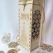 Бутылки ручной работы. Ярмарка Мастеров - ручная работа Подарочная упаковка для шампанского. Handmade.