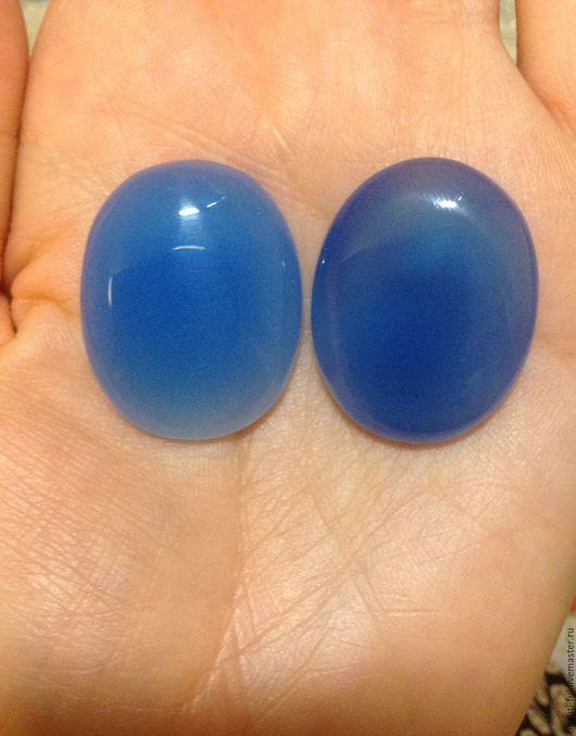 Для украшений ручной работы. Ярмарка Мастеров - ручная работа. Купить Голубой халцедон ( пара). Handmade. Голубой
