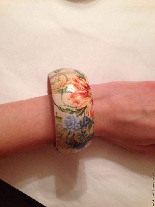 Браслеты ручной работы. Ярмарка Мастеров - ручная работа. Купить Деревянный браслет ручной работы. Handmade. Комбинированный, дерево