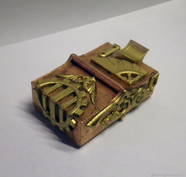 Sets of Items handmade. Livemaster - handmade. Buy Cigarette Case Stylized №2 Steampunk Steampunk.Steampunk, gear