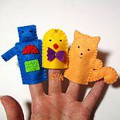 Куклы и игрушки ручной работы. Ярмарка Мастеров - ручная работа Персонажи Пальчикового Театра (дополнительные) (из фетра). Handmade.