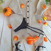Работы для детей, ручной работы. Ярмарка Мастеров - ручная работа Комбинезон для новорожденных Топтыжка из ягненка.. Handmade.