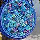 """Женские сумки ручной работы. Ярмарка Мастеров - ручная работа. Купить Сумочка вязаная """"Синяя, как океан. Я даже брошу пить!"""". Handmade."""