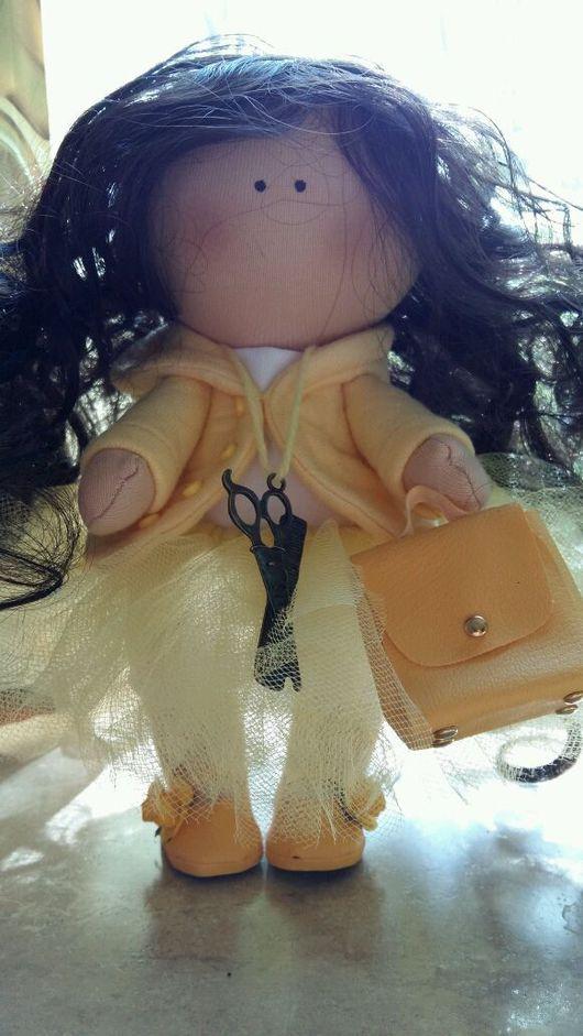 Куклы тыквоголовки ручной работы. Ярмарка Мастеров - ручная работа. Купить Интерьерная кукла. Handmade. Желтый, парикмахер, интерьерная игрушка