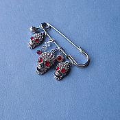 "Украшения handmade. Livemaster - original item brooch-pin ""Red eye or funny shards"" from the evil eye and envy. Handmade."