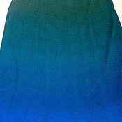Одежда ручной работы. Ярмарка Мастеров - ручная работа Вязаная юбка Песня океана. Handmade.