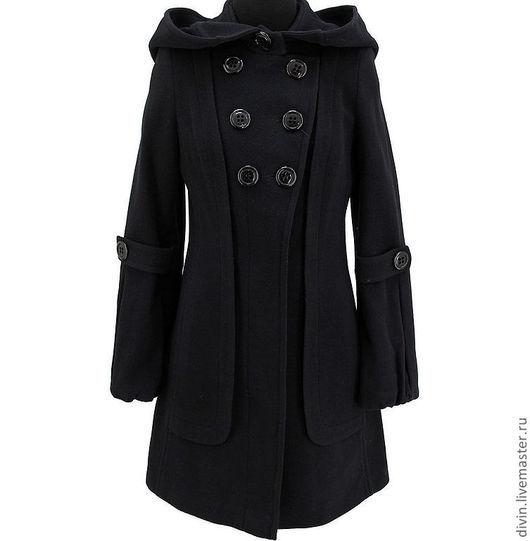 Верхняя одежда ручной работы. Ярмарка Мастеров - ручная работа. Купить Пальто Teresa nero. Handmade. Черный, пальто демисезонное
