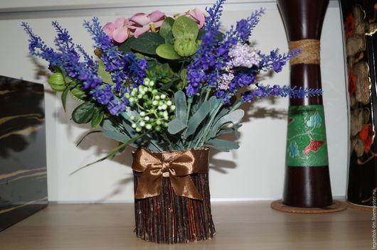 """Топиарии ручной работы. Ярмарка Мастеров - ручная работа. Купить Букет """"Лаванда"""". Handmade. Тёмно-синий, искусственные цветы"""