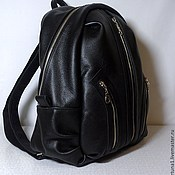 Сумки и аксессуары handmade. Livemaster - original item Backpack city leather 49. Handmade.