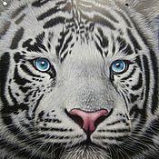 """Дизайн и реклама ручной работы. Ярмарка Мастеров - ручная работа Аэрография на капоте автомобиля """"Тигр"""". Handmade."""