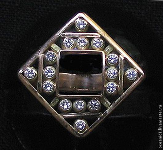 """Кольца ручной работы. Ярмарка Мастеров - ручная работа. Купить Кольцо """"Бриллианты в квадрате"""". Handmade. Золото, золото 585 пробы"""