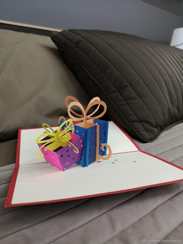 Открытка с Днём Рождения (Happy Birthday) - 3D открытка ручной работы, Открытки, Москва,  Фото №1