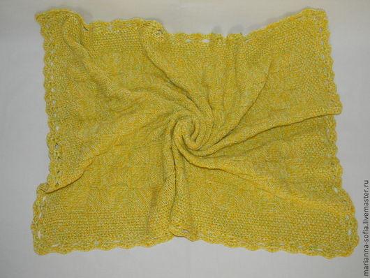 """Пледы и одеяла ручной работы. Ярмарка Мастеров - ручная работа. Купить Плед """"Одуванчик"""". Handmade. Желтый, плед в коляску"""