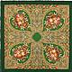 Шерстяной павловопосадский платок `Осенние кружева`