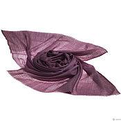 Аксессуары ручной работы. Ярмарка Мастеров - ручная работа Двухцветный палантин из кашемира модного оттенка Bodacious. Handmade.