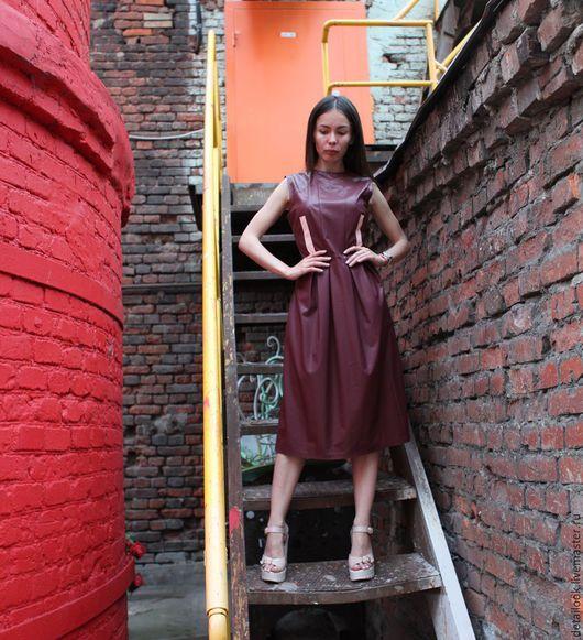 Платья ручной работы. Ярмарка Мастеров - ручная работа. Купить Платье бордовое. Handmade. Бордовый, платье коктейльное, платье на заказ