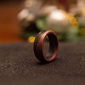 Украшения handmade. Livemaster - original item Ring amaranth wood and wenge. Handmade.