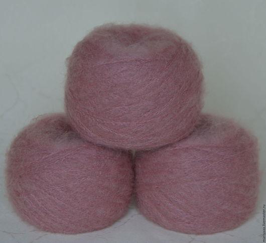 Вязание ручной работы. Ярмарка Мастеров - ручная работа. Купить Фактурная пряжа с мохером цвет розовый кварц для мини мишек Тедди. Handmade.