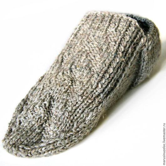 Носки, Чулки ручной работы. Ярмарка Мастеров - ручная работа. Купить вязаные носки ручной работы, носки вязаные, следки вязаные, серый. Handmade.