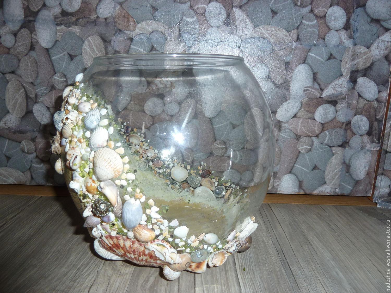 Фото из ракушек вазы своими руками