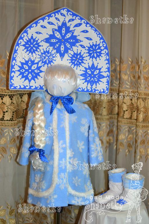 Детские карнавальные костюмы ручной работы. Ярмарка Мастеров - ручная работа. Купить Костюм Маши - Снегурочки детский. Handmade. Голубой