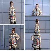 Одежда ручной работы. Ярмарка Мастеров - ручная работа Вязаное пальто с шишками и цветами. Handmade.
