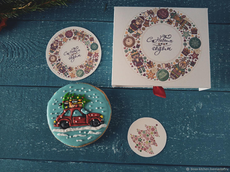 Новогодние имбирные пряники в коробке, Пряники, Санкт-Петербург,  Фото №1