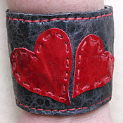 Украшения handmade. Livemaster - original item Bracelet, a Valentine from the skin. Handmade.