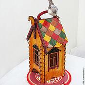 "Для дома и интерьера handmade. Livemaster - original item Tea bags holder, tea house box, tea bag storage  ""Teremok"". Handmade."