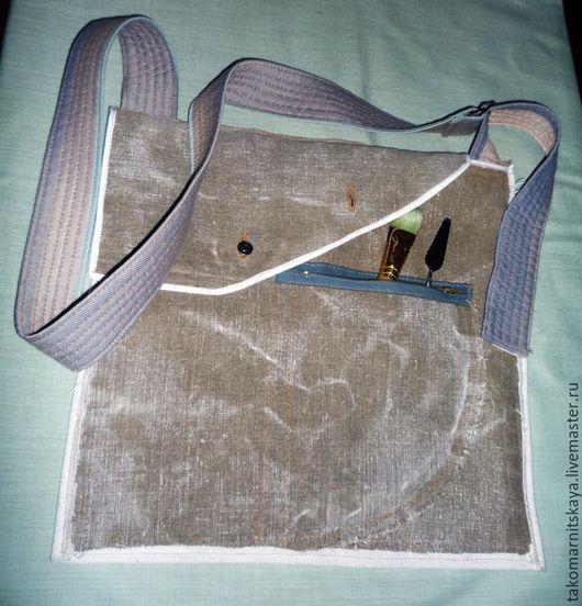 Женские сумки ручной работы. Ярмарка Мастеров - ручная работа. Купить Текстильная сумка. Handmade. Оливковый, подклад, повседневная сумка