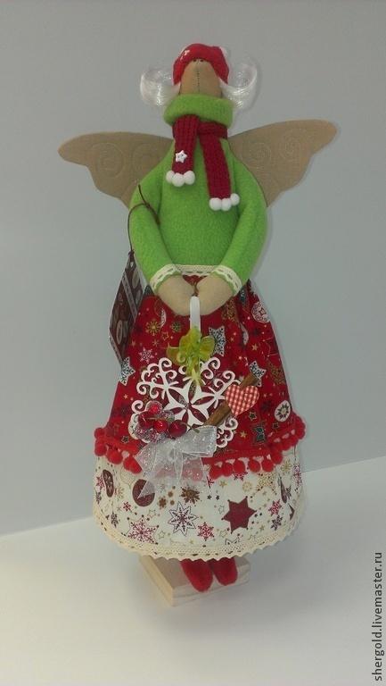 Куклы Тильды ручной работы. Ярмарка Мастеров - ручная работа. Купить Ангел Рождества-Текстильная кукла в стиле Тильда. Handmade.