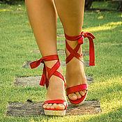 Обувь ручной работы handmade. Livemaster - original item Sandals made of genuine leather Hoda. Handmade.