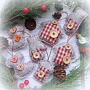 Подарки к праздникам ручной работы. Ярмарка Мастеров - ручная работа Фетровые игрушки на елку Зимний хоровод. Handmade.