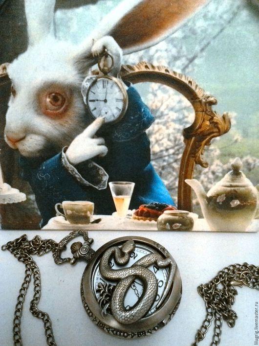 "Часы ручной работы. Ярмарка Мастеров - ручная работа. Купить Часы карманные ""Змея"". Handmade. Часы, часы на цепочке"