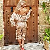Одежда ручной работы. Ярмарка Мастеров - ручная работа Болеро вязаное классический беж. Handmade.