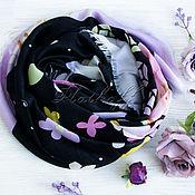Аксессуары handmade. Livemaster - original item Black scarf based on Louis Vuitton