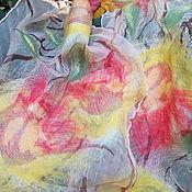 Аксессуары ручной работы. Ярмарка Мастеров - ручная работа Летний валяный шарфик Тюльпаны в бамбуковой роще. Handmade.