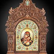 Картины и панно handmade. Livemaster - original item Korsun icon of the blessed virgin Mary. Handmade.