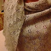 Аксессуары handmade. Livemaster - original item shawl made from 100% linen yarn