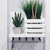 Для дома и интерьера handmade. Livemaster - original item Key holders: wall-mounted for the hallway. Handmade.