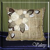 Для дома и интерьера ручной работы. Ярмарка Мастеров - ручная работа Подушка-цветы. Handmade.