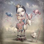 """Картины и панно ручной работы. Ярмарка Мастеров - ручная работа Детская картина маслом на холсте """"Алиса"""" 30/40см. Handmade."""