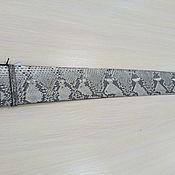 Аксессуары handmade. Livemaster - original item Wide women`s belt, Python leather natural color.. Handmade.