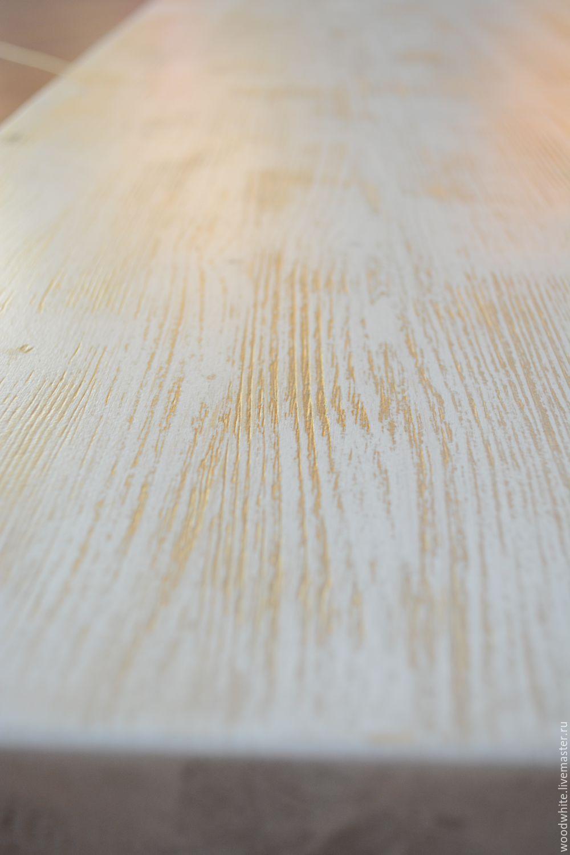 """Мебель ручной работы. Ярмарка Мастеров - ручная работа. Купить Столешница для подоконника или барного стола """"Патина"""". Handmade. Белый"""