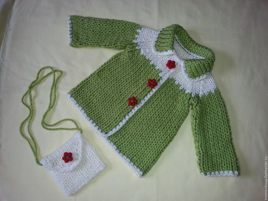 """Одежда для девочек, ручной работы. Ярмарка Мастеров - ручная работа. Купить Пальто вязаное """"Аленький цветочек"""". Handmade. Пальто, подарок"""