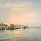 Картина для интерьера - городской пейзаж с водой Санкт-Петербург - «Утро Дворцовой набережной». Елена Ануфриева