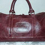 Дорожная(спортивная) сумка из натуральной кожи № 83
