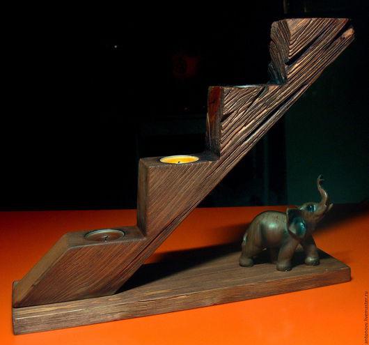 Подсвечники ручной работы. Ярмарка Мастеров - ручная работа. Купить подсвечник деревянный. Handmade. Подсвечник ручной работы, масловоск