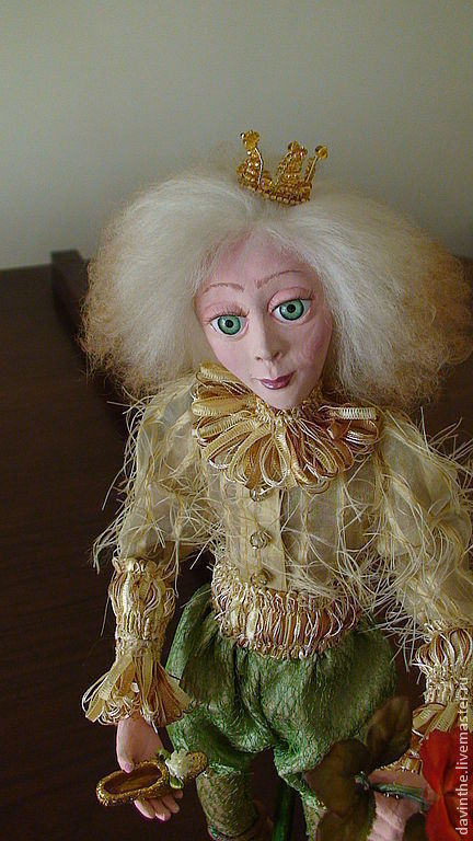 """Сказочные персонажи ручной работы. Ярмарка Мастеров - ручная работа. Купить Авторская кукла из паперклея """" Сказочный принц """". Handmade."""